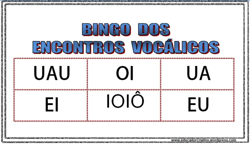 Extremamente Jogos na alfabetização: Bingo. – Educador Criativo DA95