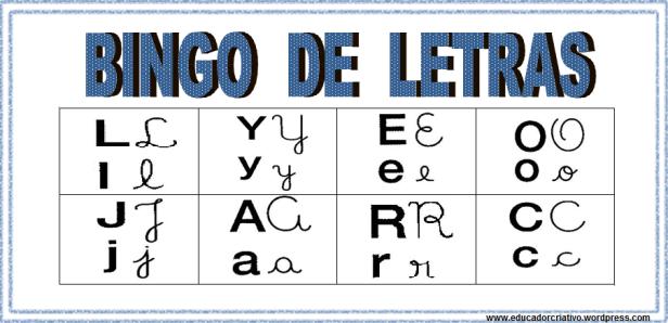Bingo de letras 16