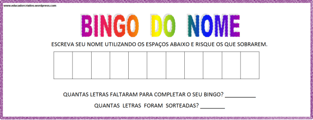 bingo do nome