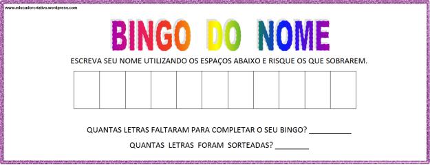 bingo do nome