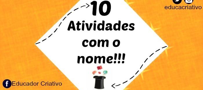 Rotina 10 Atividades Com O Nome Formacao Didatica