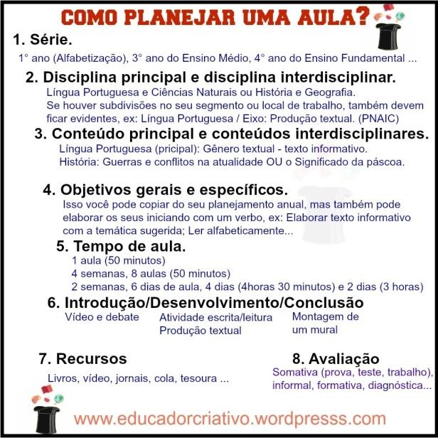 planejamento de aula - escola - educador criativo - atividade - professor